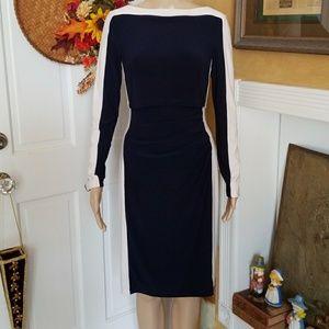 Lauren Ralph Lauren Navy & White Dress